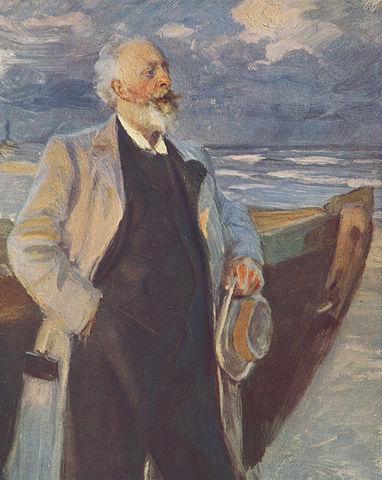 Holger Drachmann, av P.S. Kröyer, Wikipedia
