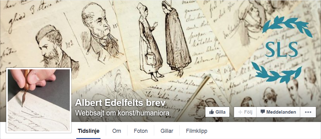 Albert Edelfelts brev på Facebook